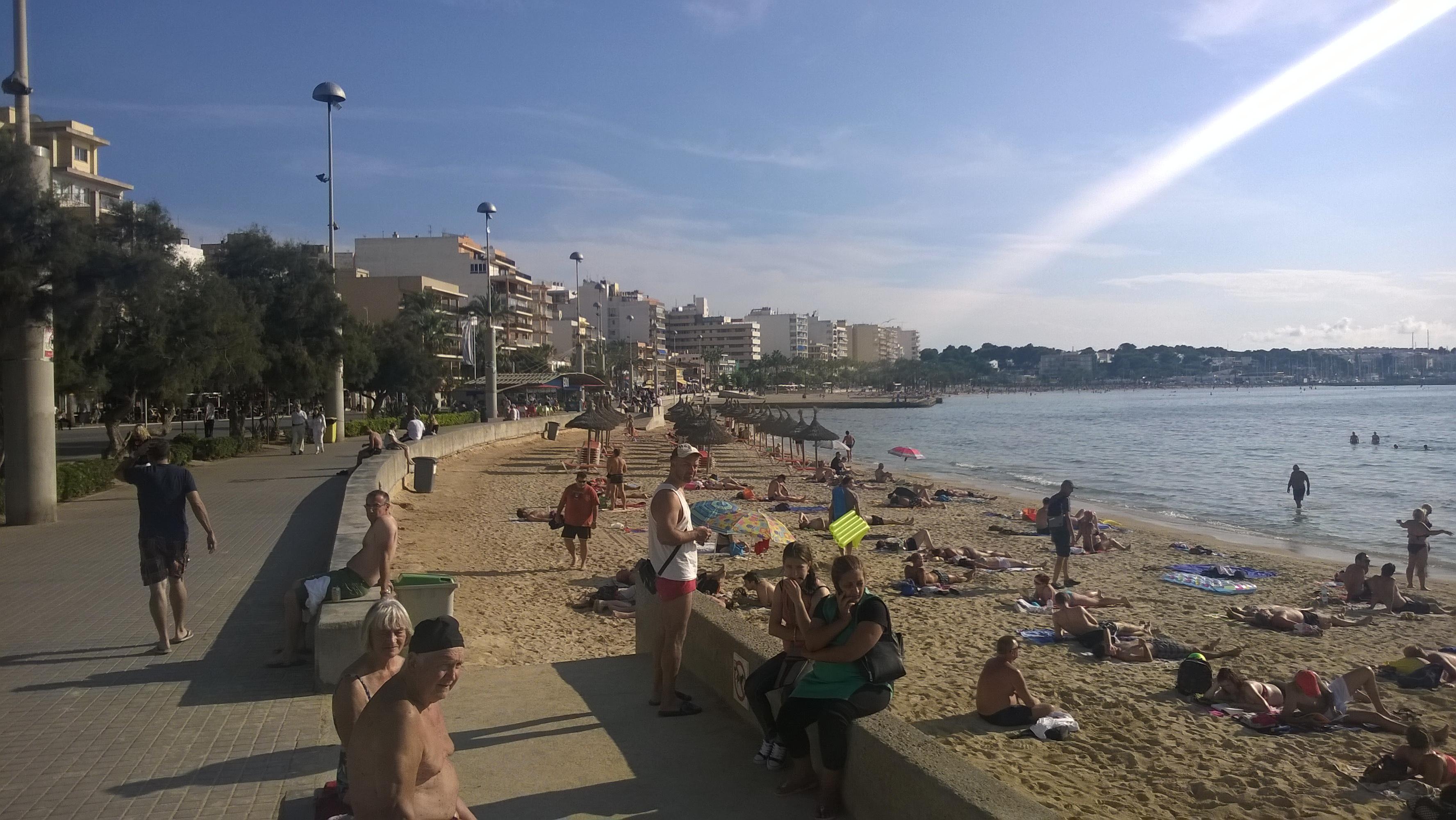 Strand am Ballermann auf Mallorca