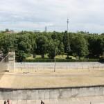 Darstellung des Grenzstreifens entlang der Mauer