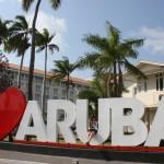 Zentrum von Oranjestad auf Aruba