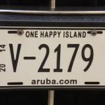 Nummernschild auf Aruba
