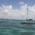 Katamarane beim Schnorcheln auf Aruba