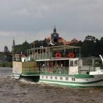 Dresdner Raddampfer auf der Elbe