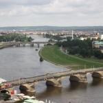 Blick auf die Elbe von der Frauenkirche