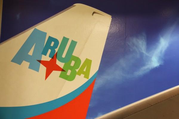 Leitwerk eines Insel-Air Flugzeuges