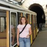 Talstation der Dresdner Standseilbahn mit dem Portal des Burgbergtunnels