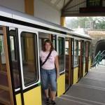 Einstieg bei der Talstation der Dresdner Standseilbahn