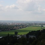 Blick über das Dresdner Elbtal von der Bergstation der Dresdner Standseilbahn
