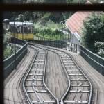 Abtsche Weiche auf dem Viadukt der Dresdner Standseilbahn