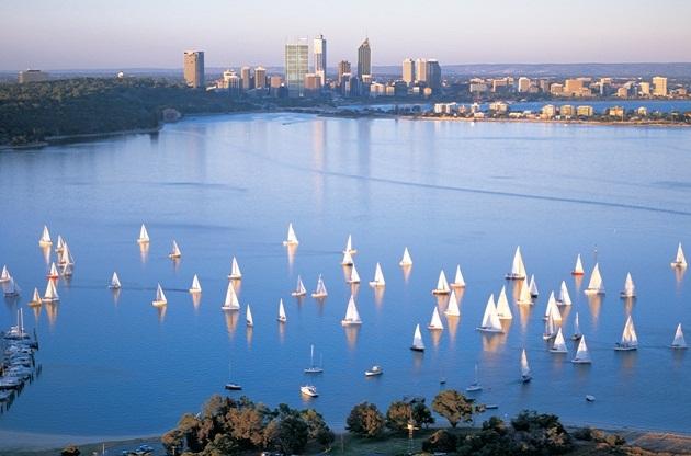Perth - die sonnenverwöhnte Weltmetropole, die Großstadt und Wassersport vereint