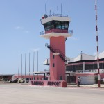 Flamingo Flughafen (BON) in pink auf Bonaire