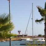 Tower des nahen Flughafen vom Plaza Resort Bonaire