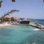 Blick auf Laguna Hotel Avila vom Hotelsteg
