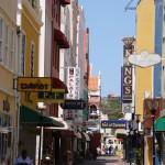 Gassen in Willemstad auf Curacao