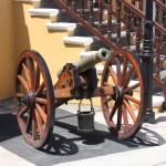 Kanone vor dem Fort Amsterdam