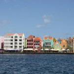 Bunte Häuser auf Curacao