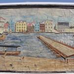 Zeichnung der Königin-Emma-Brücke in Willemstad