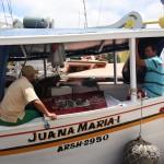 Verkauf direkt aus dem Boot
