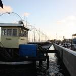 Offene Königin-Emma-Brücke in Willemstad