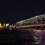 Beleuchtete Königin Emma Brücke