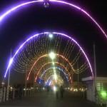 Königin Emma Brücke bei Nacht