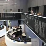 Blick auf das Parkett der Börse Frankfurt