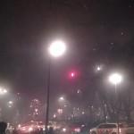 Neujahrsparty mit Feuerwerk