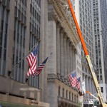 Blick in die Wall Street in New York