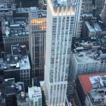 beleuchtete Hochhäuser in New York