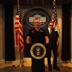 Weißes Haus im Nachrichtenstudio im Madame Tussauds New York