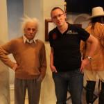 Treffen mit Albert Einstein im Madame Tussauds New York