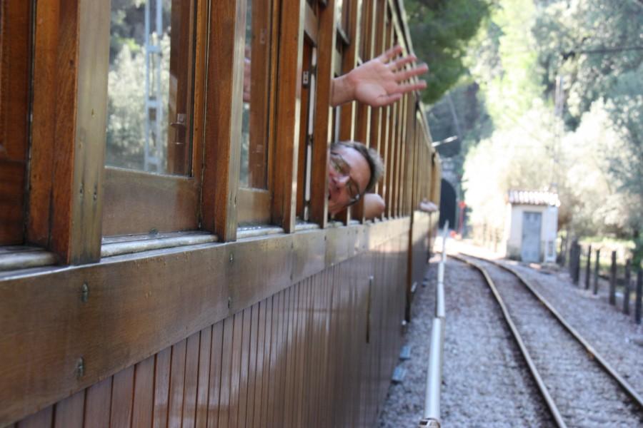Blick aus dem Tren de Sóller