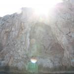 Felsformation im Sonnenlicht bei Sa Calobra