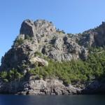 Felsen entlang der Schifffahrt nach Sa Calobra