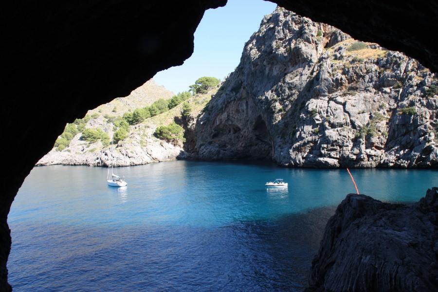 Blick auf die Bucht von Sa Calobra