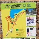 Karte um den Hafen von Sa Calobra