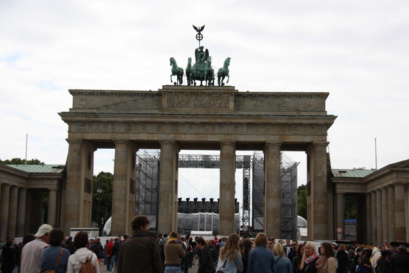 Feier am Brandenburger Tor
