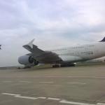 Nostalgie-Lufthansa startet über Lufthansa A380