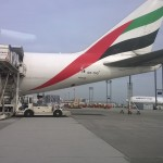 Gestütztes Frachtflugzeug von Emirates