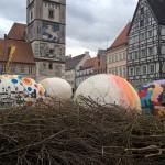Osternest vor dem Schimmelturm in Lauingen