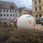 Osternest auf dem Marktplatz in Lauingen