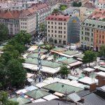 Viktualienmarkt in München von oben