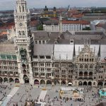 Marienplatz vor dem Münchener Rathaus