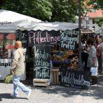Marktstände auf dem Viktualienmarkt