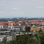 Blick auf München vom Olympiapark