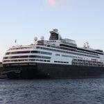 Kreuzfahrtschiff auf Curacao