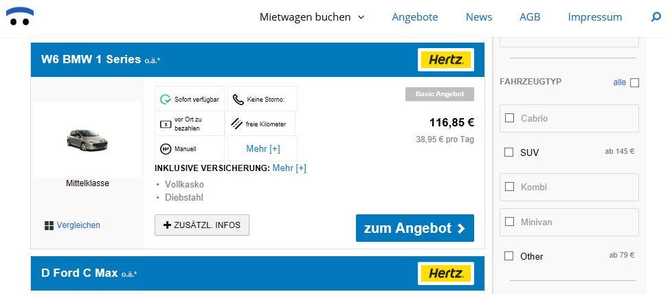 Mietwagen-Angebote von Mietwagen-Broker.de