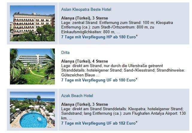 Tagesangebote bei Reisekiosk24.de